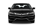 Car photography straight front view of a 2018 Acura ILX Technology Plus 4 Door Sedan