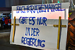 """05.12.2019, Stadtgebiet, Memmingen, GER, Bauern-Demonstration in Memmingen, Ueber 4000 Bauern demonstrierten mit fast 3000 Traktoren in Memmingen. Organisiert wurde die Demo von """"Land schafft Verbindung"""". Auf der anschliesenden Kundgebung sprach ua. die bayr. Landwirtschaftsministerin Michaela Kaniber, <br /> im Bild ein Protestplakat<br /> <br /> Foto © nordphoto / Hafner"""