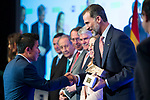"Genciano Pedriel Jare  and Spanish king Felipe attends XXXIV International prizes of journalism ""Rey de Espana"" and the XIII edition of the prize ""Don Quijote"" of journalism in Madrid, Spain. March 27, 2017. (ALTERPHOTOS / Rodrigo Jimenez)"