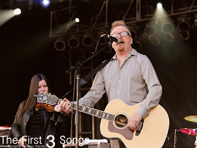 Dave King of Flogging Molly performs during the Hangout Music Fest in Gulf Shores, Alabama on May 19, 2012.