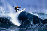 A surfer floats over a lip section of a wave and prepares to make the landing off the coast of Newport Beach, California, EXPA Pictures © 2010, PhotoCredit: EXPA/ New Sport/ Les Walker *** ATTENTION *** United States of America OUT!
