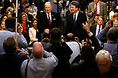 Associate Justice of the Supreme Court-designate Brett Kavanaugh is surrounded by photographers as he stands with Senate Judiciary Committee Chairman Chuck Grassley (Republican of Iowa) during Kavanaugh's confirmation hearing on Capitol Hill in Washington, U.S., September 4, 2018. <br /> Credit: Jim Bourg / Pool via CNP