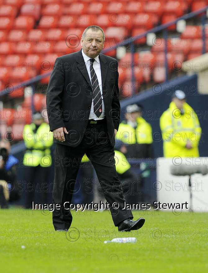 12/04/2008    Copyright Pic: James Stewart.File Name : sct_jspa38_qots_v_aberdeen.A DEJECTED LOOKING ABERDEEN MANAGER JIMMY CALDERWOOD WATCHES HIS SIDE BEATEN BY QUEEN OF THE SOUTH....James Stewart Photo Agency 19 Carronlea Drive, Falkirk. FK2 8DN      Vat Reg No. 607 6932 25.Studio      : +44 (0)1324 611191 .Mobile      : +44 (0)7721 416997.E-mail  :  jim@jspa.co.uk.If you require further information then contact Jim Stewart on any of the numbers above........