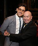 Justin Peck and Jack O'Brien during the Actors' Equity Broadway Opening Night Gypsy Robe Ceremony honoring Jess LeProtto for 'Carousel' at the Imperial Theatre on April 12, 2018 in New York City.