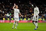 Real Madrid's Lucas Vazquez (L) and Vinicius Jr. (R) celebrate goal during Copa Del Rey match between Real Madrid and CD Leganes at Santiago Bernabeu Stadium in Madrid, Spain. January 09, 2019. (ALTERPHOTOS/A. Perez Meca)