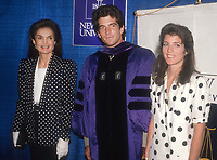 Jackie, John Kennedy, Jr. Caroline Kennedy 1983<br /> Photo By John Barrett/PHOTOlink.net