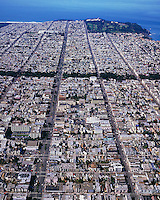 aerial photograph Geary Street Richmond district San Francisco California
