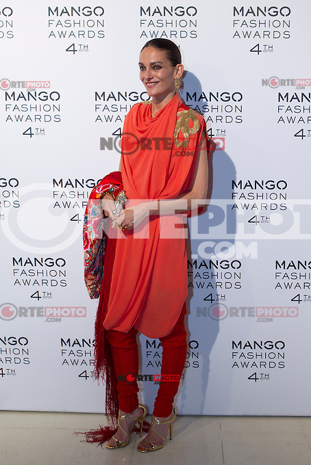 Model Laura Ponte attends the Mango Fashion Awards,  Barcelona Spain, May 30, 2012.