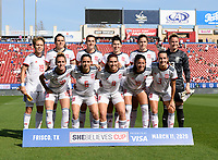 FRISCO, TX - MARCH 11: Spain's Starting XI during a game between England and Spain at Toyota Stadium on March 11, 2020 in Frisco, Texas.