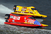 Jeff Shepherd (#38) and Lynn Simberger (#72)   (Formula 1/F1/Champ class)