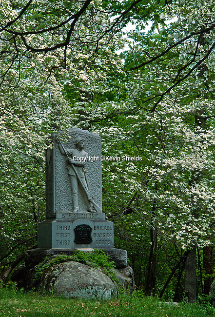 Michigan Monument, Gettysburg National Military Park, Pennsylvania, USA