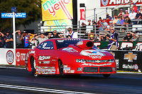 Feb 6, 2015; Pomona, CA, USA; NHRA pro stock driver Drew Skillman during qualifying for the Winternationals at Auto Club Raceway at Pomona. Mandatory Credit: Mark J. Rebilas-