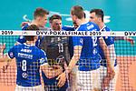 24.02.2019, SAP Arena, Mannheim<br /> Volleyball, DVV-Pokal Finale, VfB Friedrichshafen vs. SVG LŸneburg / Lueneburg<br /> <br /> Feature Netzkante DVV-Pokalfinale<br /> <br />   Foto © nordphoto / Kurth