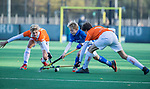 BLOEMENDAAL  - Hidde Wunderink , competitiewedstrijd junioren  landelijk  Bloemendaal JB1-Kampong JB1 (4-3) . COPYRIGHT KOEN SUYK
