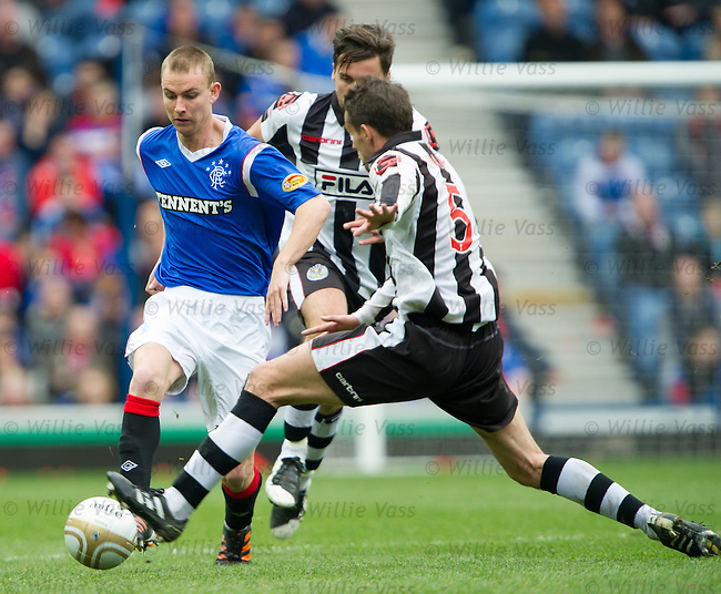 Andy Mitchell takes on the St Mirren rearguard