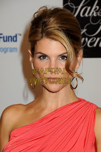 LORI LOUGHLIN.EIF's Women's Cancer Research Fund Benefit held at the Beverly Wilshire Hotel, Beverly Hills, California, USA..January 27th, 2010.headshot portrait pink one shoulder gold dangling earrings .CAP/ADM/BP.©Byron Purvis/AdMedia/Capital Pictures.