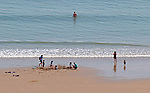 Langland Bay, Swansea, UK, 9th May 2020.<br />People out and about getting their daily lockdown exercise at Langland Bay near Swansea today in the sunny weather.