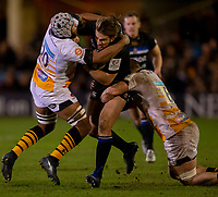 Bath Rugby's Max Clark in action during todays match<br /> <br /> Photographer Bob Bradford/CameraSport<br /> <br /> European Rugby Heineken Champions Cup Pool 1 - Bath Rugby v Wasps - Saturday 12th January 2019 - The Recreation Ground - Bath<br /> <br /> World Copyright &copy; 2019 CameraSport. All rights reserved. 43 Linden Ave. Countesthorpe. Leicester. England. LE8 5PG - Tel: +44 (0) 116 277 4147 - admin@camerasport.com - www.camerasport.com