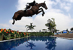 GUADALAJARA, MEXICO - OCTOBER 27:  John Perez of Columbia competes during the Equestrian Show Jumping Competition on Day Thirteen of the XVI Pan American Games on October 27, 2011 in Guadalajara, Mexico.  (Photo by Donald Miralle for Mexsport) *** Local Caption ***