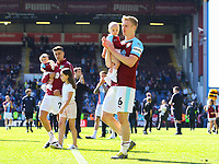 Burnley's Ben Mee applaud the fans after the match<br /> <br /> Photographer Alex Dodd/CameraSport<br /> <br /> The Premier League - Burnley v Arsenal - Sunday 12th May 2019 - Turf Moor - Burnley<br /> <br /> World Copyright &copy; 2019 CameraSport. All rights reserved. 43 Linden Ave. Countesthorpe. Leicester. England. LE8 5PG - Tel: +44 (0) 116 277 4147 - admin@camerasport.com - www.camerasport.com