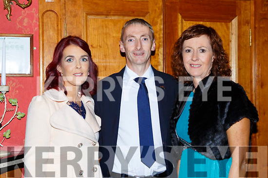 Pauline and Kevin Lynch with Fiona Neylon Listowel at the Kerry Community games awards in the River Island Hotel on Friday night