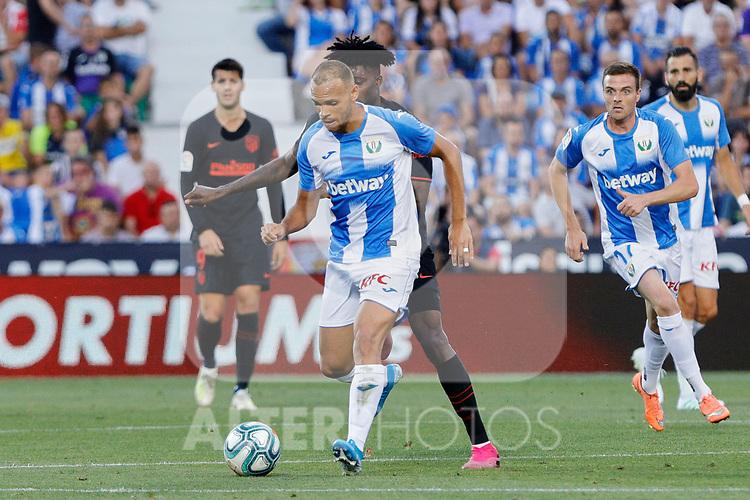 CD Leganes's Martin Braithwaite during La Liga match between CD Leganes and Atletico de Madrid at Butarque Stadium in Madrid, Spain. August 25, 2019. (ALTERPHOTOS/A. Perez Meca)