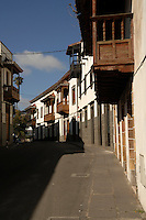 Houses in the Canarian town of Teror in the mountains of Gran Canaria, Canary Islands, Spain.
