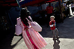 "Iesha Ortiz as ""Princess Lily"" walks through the park meeting the children in Legoland in Whitehaven, Florida on February 11, 2012."