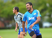 Rey Lee-Lo in action during the Hurricanes Super 15 rugby training at Hutt Recreation Ground, Lower Hutt, Wellington, New Zealand on Thursday, 24 January 2013. Photo: Dave Lintott / lintottphoto.co.nz