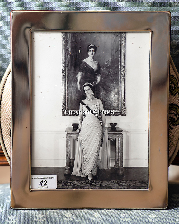BNPS.co.uk (01202 558833)<br /> Pic: PhilYeomans/BNPS<br /> <br /> Princess Alexandra portrait.<br /> <br /> A remarkable 'time warp' Royal archive amassed by the Queen's dressmaker has been found inside his old country home.<br /> <br /> The late Ian Thomas was a dress designer for members of the Royal Family, including Her Majesty, for over 30 years.<br /> <br /> As an apprentice he worked alongside the renowned fashion designer Norman Hartnell on creating the Queen's coronation dress in 1953.<br /> <br /> His archive includes embroidered samples of the gown worn by Elizabeth II for the historic ceremony in Westminster Abbey that was broadcast to millions.<br /> <br /> Mr Thomas also designed outfits for the Queen Mother and Princess Margaret.