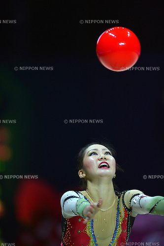 Runa Yamaguchi (JPN), .SEPTEMBER 30, 2012 - Rhythmic Gymnastics : AEON CUP 2012 Worldwide R.G. Club Championships at 1st Yoyogi Gymnasium, Tokyo, Japan. (Photo by Jun Tsukida/AFLO SPORT) [0003]