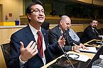 BRUSSELS - BELGIUM - 15 November 2012 -- European Training Foundation (ETF) conference on - Towards excellence in entrepreneurship and enterprise skills. -- Good practice clinics - Skills for internationalisation of SMEs - Chair: Gavril Lasku, ETF - Good practices from Jordan R. Bibars. -- PHOTO: Juha ROININEN /  EUP-IMAGES.