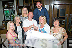 5663-5666.---------.Charity.-------.At Gally's bar/restaurant,Castlemaine Rd,Tralee last Saturday night,staff of Sam McCauley,s chemist,Manor shopping centre,Tralee presented a cheque for EUR1,040 for Our Lady's Children hospital Crumlin,to Tim Galvin,collected by them from donations for free gift wrapping at their store,present were(front)L-R Sinead Duffy,Paula O'Sullivan,Tim Galvin,Christine Foley and Madeleine kelly(back)L-R Amy O'Brien and Terry Foley.