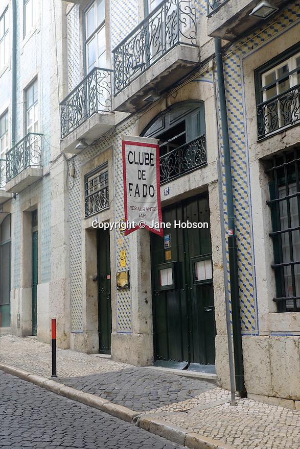 Lisbon, Portugal. 21.03.2015. Clube de Fado in the Alfama district of Lisbon. © Jane Hobson.