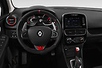 Car pictures of steering wheel view of a 2018 Renault Clio RS Final Edition 5 Door Hatchback