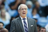 CHAPEL HILL, NC - JANUARY 4: Head coach Roy Williams of the University of North Carolina during a game between Georgia Tech and North Carolina at Dean E. Smith Center on January 4, 2020 in Chapel Hill, North Carolina.