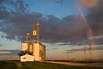 Grain elevators, morning, rainbow..ARB Grain LLC