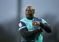 Adebayo Akinfenwa of Wycombe Wanderers during the Sky Bet League 2 match between Notts County and Wycombe Wanderers at Meadow Lane, Nottingham, England on 10 December 2016. Photo by Andy Rowland.