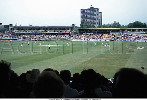 EDGBASTON, General View, England v Australia, 1st Test Match, 970606. Photo: Chris Brown/Action Plus...1997.cricket.venue.ground.grounds.venues