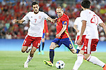 Spain's Andres Iniesta and Georgia's Abujarnia  during the up match between Spain and Georgia before the Uefa Euro 2016.  Jun 07,2016. (ALTERPHOTOS/Rodrigo Jimenez)