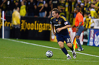 26 SEPTEMBAR 2009: #33 Chris Birchall of the LA Galaxy  during the Los Angeles Galaxy at Columbus Crew MLS game in Columbus, Ohio on May 27, 2009.