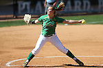 24 April 2016: Notre Dame's Allie Rhodes. The University of North Carolina Tar Heels hosted the University of Notre Dame Fighting Irish at Anderson Stadium in Chapel Hill, North Carolina in a 2016 NCAA Division I softball game. UNC won game 1 of the doubleheader 7-4.