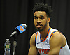 Courtney Lee of the New York Knicks fields questions during the team's Media Day held at Madison Square Garden Training Center in Greenburgh, NY on Monday, Sept. 24, 2018.