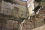 Bombed out building in Palermo,Sicily, Italy