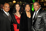 From left: Darron and Lisa Wallace with Diedra and Terence Fontaine at the Gala on the Green benefitting the Discovery Green Conservancy Saturday Feb. 27,2010. (Dave Rossman Photo)