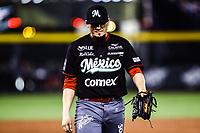 Aldo Montes pitcher relevo.<br /> <br /> Mexico pierde 5 carreras 4 , durante el  segundo d&iacute;a de actividades de la Serie del Caribe con el partido de beisbol  Tomateros de Culiacan de Mexico  contra los Alazanes de Gamma de Cuba en estadio Panamericano en Guadalajara, M&eacute;xico,  s&aacute;bado 3 feb 2018. <br /> (Foto  / Luis Gutierrez)