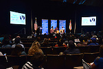 MIAMI, FL - FEBRUARY 06: Sybrina Fulton (C) and Tracy Martin (R) in conversation with Traci Cloyd (L) during the signing of their book 'Rest In Power: The Enduring Life Of Trayvon Martin' at Miami Dade College on February 6, 2017 in Miami, Florida. ( Photo by Johnny Louis / jlnphotography.com )