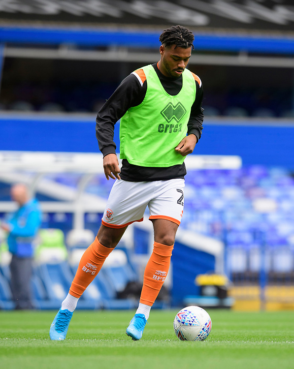 Blackpool's Joe Nuttall during the pre-match warm-up<br /> <br /> Photographer Chris Vaughan/CameraSport<br /> <br /> The EFL Sky Bet League One - Coventry City v Blackpool - Saturday 7th September 2019 - St Andrew's - Birmingham<br /> <br /> World Copyright © 2019 CameraSport. All rights reserved. 43 Linden Ave. Countesthorpe. Leicester. England. LE8 5PG - Tel: +44 (0) 116 277 4147 - admin@camerasport.com - www.camerasport.com
