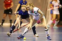 Franziska Hauke,   Alina Evsyukova<br /> / Sport / Hockey Hnhockey / World Championships Weltmeisterschaft Damen /  2017/2018 / 07.02.2018 / GER BRGermany vs. Russland  *** Local Caption *** © pixathlon<br /> Contact: +49-40-22 63 02 60 , info@pixathlon.de