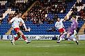 Chris Beardsley of Stevenage's shot is saved by Ben Williams of Colchester  . - Colchester United v Stevenage - Weston Homes Community Stadium, Colchester - 26th December 2011  .© Kevin Coleman 2011